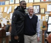 Fred Smith Gets a Visit from Tim Hardaway, Jr of the NY Knicks